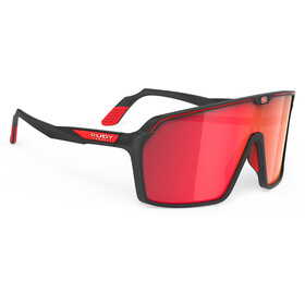 Rudy Project Spinshield Occhiali, black matte/multilaser red